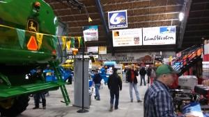 Big equipment.  This John Deere tractor dwarfs my little J.D. 220A greens mower.